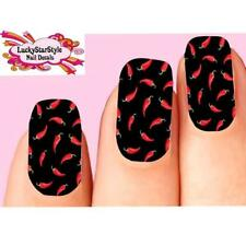 Waterslide Full Nail Decals Set of 10 - Red Chili Peppers Full