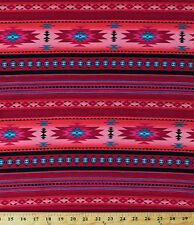Cotton Pink Southwestern Stripes Aztec Tucson Fabric Print by the Yard D467.41