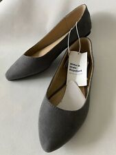 Old Navy Ballet Flats Faux Suede Gray NWT 7.5 Grey Pointed Toe