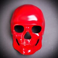 RED Full Face Scary Halloween Skull Mask Horror Cosplay Dress Up Ghost Costume