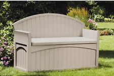 Suncast PB6700 50 Gallon Durable Resin Storage Outdoor Deck Patio Bench