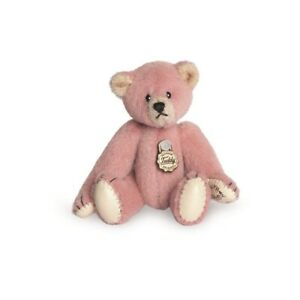 Teddy Hermann jointed collectable miniature pink teddy bear in gift box 154136
