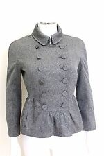 Burberry Silver Grey Peplum Jacket It 38 UK6