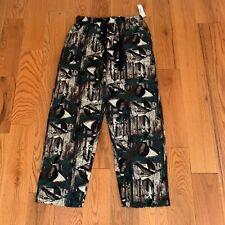 Covington Men's Camo Geese Flannel Pajama Pocket Pants Bottom NEW M