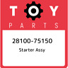 28100-75150 Toyota Starter assy 2810075150, New Genuine OEM Part
