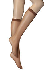 10 Pairs New Womens Wholesale Natural Brown Plain Knee High Pop Socks 30 Denier