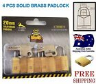 4pcs 20mm solid brass padlock travel luggage suitcase tools locks keyed alike