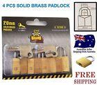 4pcs 20mm solid brass padlock travel luggage suitcase tools locks keyed alike