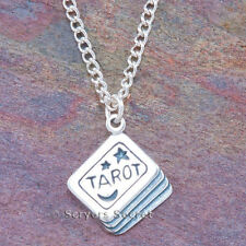 925 sterling silver TAROT CARD DECK charm Witch Wiccan Pendant Necklace