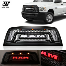 Mesh Grille Rebel Style Front Grill Hood LED Light For 2010-2018 Dodge Ram 2500