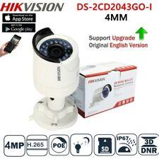 Hikvision 4mp Poe Camera Ds-2cd2043g0-i4mm H.265 IR Mini Bullet Security Cameras