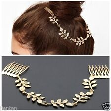 1PC New Fashion Women's Leaf Style Gold Hair Pin Headband Ornament Wedding Party