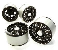 C26414BLACK High Mass 2.2 Alloy XV12 Spoke Beadlock Wheel(4)for Scale Crawler