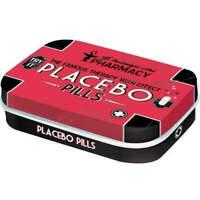 Placebo Pills Mint Box Embossed Pill storage Tin Licensed by Nostalgic Art