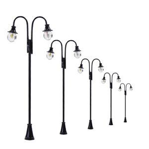 5Stk. Gartenlampen Parklaternen Leuchte Lampen Spur 00/H0 Modellbau Dekor