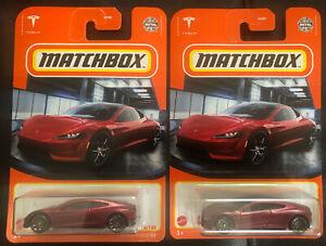 Matchbox Tesla Roadster 4/100 2021 Y Case New Sealed Lot of 2