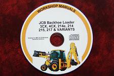 Parts & Accessories Jcb 3cx 4cx 214e 214 215 217 Dieselmax Service Manual Workshop Manual Cd Manuals & Literature