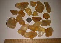 Citrine quartz Crystal Raw Brazil 1/2 lb lots