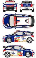 1/43 Decal Citroen DS3 WRC #1 Rally du Chablais 2013