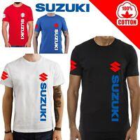 T-Shirt Suzuki SV650 v-strom GSX R uomo Maglia moto nera cotone 100% maglietta