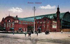 Bremen,Germany,Bahnhof,Used,World War I Feldpost,Bremen,1916