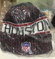 NEW WITH TAGS - HOUSTON TEXANS NFL HAT SPORTS KNIT POM CUFFED BEANIE ON FIELD