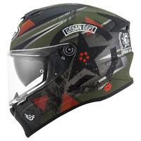 Casco integrale moto Suomy Stellar wrench matt green/grey  helmet casque pinlock