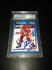 Nicklas Lidstrom Signed 1991-92 Score Canadian Rookie Card PSA Slabbed #83427419