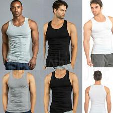 3 6 12 Pack Men Tank Top 100% Cotton A-Shirt Wife Beater Ribbed Undershirt S-3XL