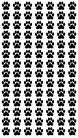Katzen und Hunde Pfoten, Cats and Dog paws, 98 Aufkleber Sticker je 1,5X1,5cm!