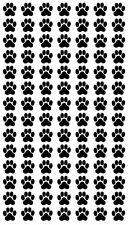 Katzen und Hunde Pfoten Aufkleber,Cats and Dog Paw Sticker 98 Stück je 1,5X1,5cm