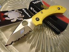 "Spyderco Dragonfly 2 Salt Folding Pocket Knife C28SYL2 H-1 Seki Japan 5 1/2"" Op"