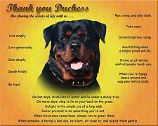 Unique Gift Idea-Rottweiler Dog Print/Picture/Wall Art-Personalized w/Name-