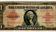 """$1 """"1923"""" (RED SEAL) """"UNITED STATES NOTE"""" (HORSE BLANKET) $1  """"RED SEAL"""" (1923)"""
