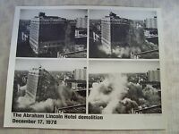 Photograph of The Abraham Lincoln Hotel Demolition December 17, 1978 Illinois