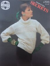 f3f211bc6ac1ae Vintage Sirdar Ladies Roll Neck Sweater DK KNITTING PATTERN 7045 - 30-40""