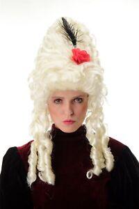 Perruque Carnaval Baroque Marie Antoinette Blond Platine Beehive Coiffure - Tour