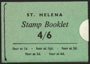 ST.HELENA: 4/6 Stamp Booklet - SB1 - Complete, Unsealed Example (40688)