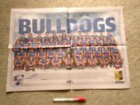 Footscray Football Club Bulldogs 2019 Team AFL Footy Poster Mint.