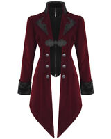 Devil Fashion Womens Jacket Coat Red Velvet Gothic Steampunk Aristocrat Regency