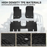 Floor Mats Liners Compatible for 2014-2018 Jeep Wrangler JK Unlimited 4 Door