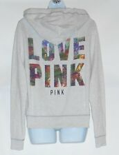 Victoria's Secret Love Pink Bling Sequin Hoodie & Skinny Pant Small (S) NWT