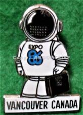 EXPO 86 SPACESUIT ERNIE w/ BRIEFCASE Pin Mint 1986 Vancouver BC