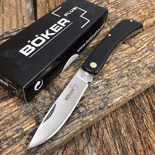 "BOKER PLUS Sodbuster Folding Pocket Knife 3 5/8"" Black Handles NEW BO216"