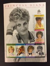 New Princess Diana Princess Of Wales 10 Memorial Anniversary 6 Stamp Collection