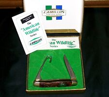 """Camillus 17B Knife American Wildlife """"Canada Goose"""" W/Packaging & Papers Rare"""
