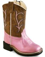 Old West Toddler Girls' Leather Boot - Square Toe - BSI1820