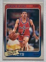 1988-89 Fleer Basketball Tyrone MUGGSY Bogues Rookie Washington Bullets #13 RC
