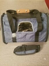 S Dog/Cat Airline Pet Carrier w Extra Strap, Pocket, Windows, Blue, Lightly Used