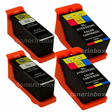 4pk Series 21/22/23 Ink Cartridges Black/Color for Dell V515w V313w V313 Printer